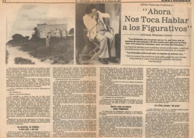 """Alirio Palacios polémico: """"Ahora nos toca hablar a los figurativos"""""""