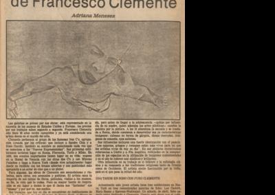 El exito prematuro de Francesco Clemente