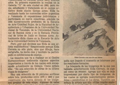 Elda Cerrato y sus imágenes de Caracas