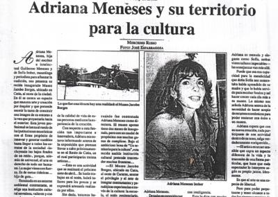 Adriana Meneses y su territorio para la cultura