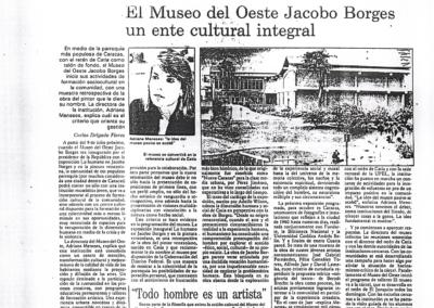 El Museo del Oeste Jacobo Borges, un ente cultural integral