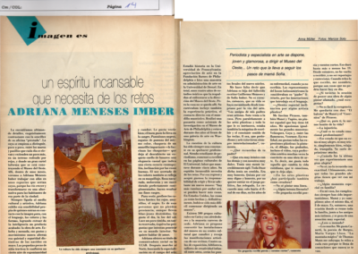 Adriana Meneses Imber: un espíritu incansable que necesita de los retos