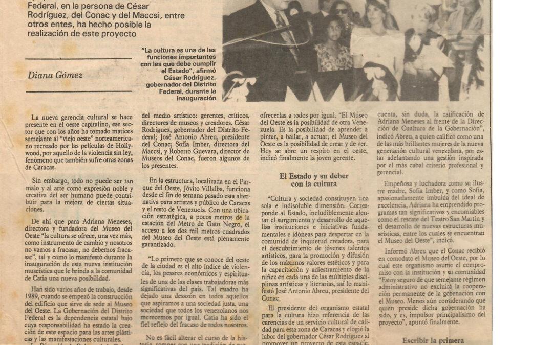 El Museo del Oeste es la posibilidad de otra Venezuela